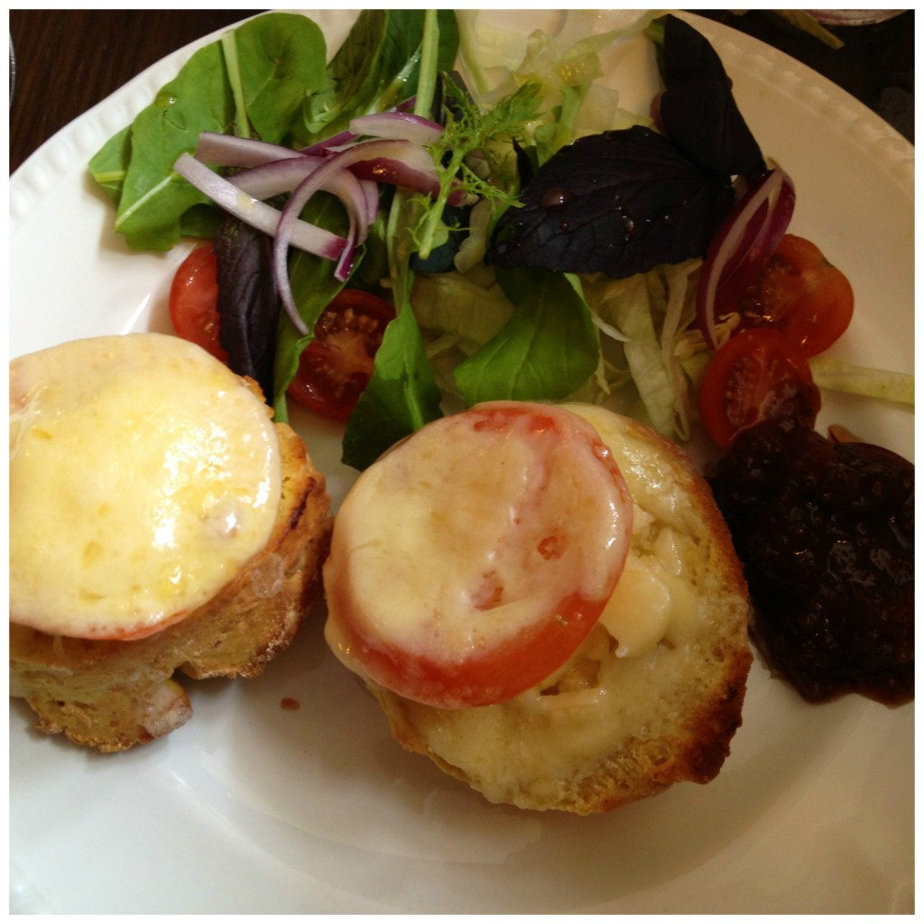 Heavenly cheese scones at a local restaurant in Chipping Campden.