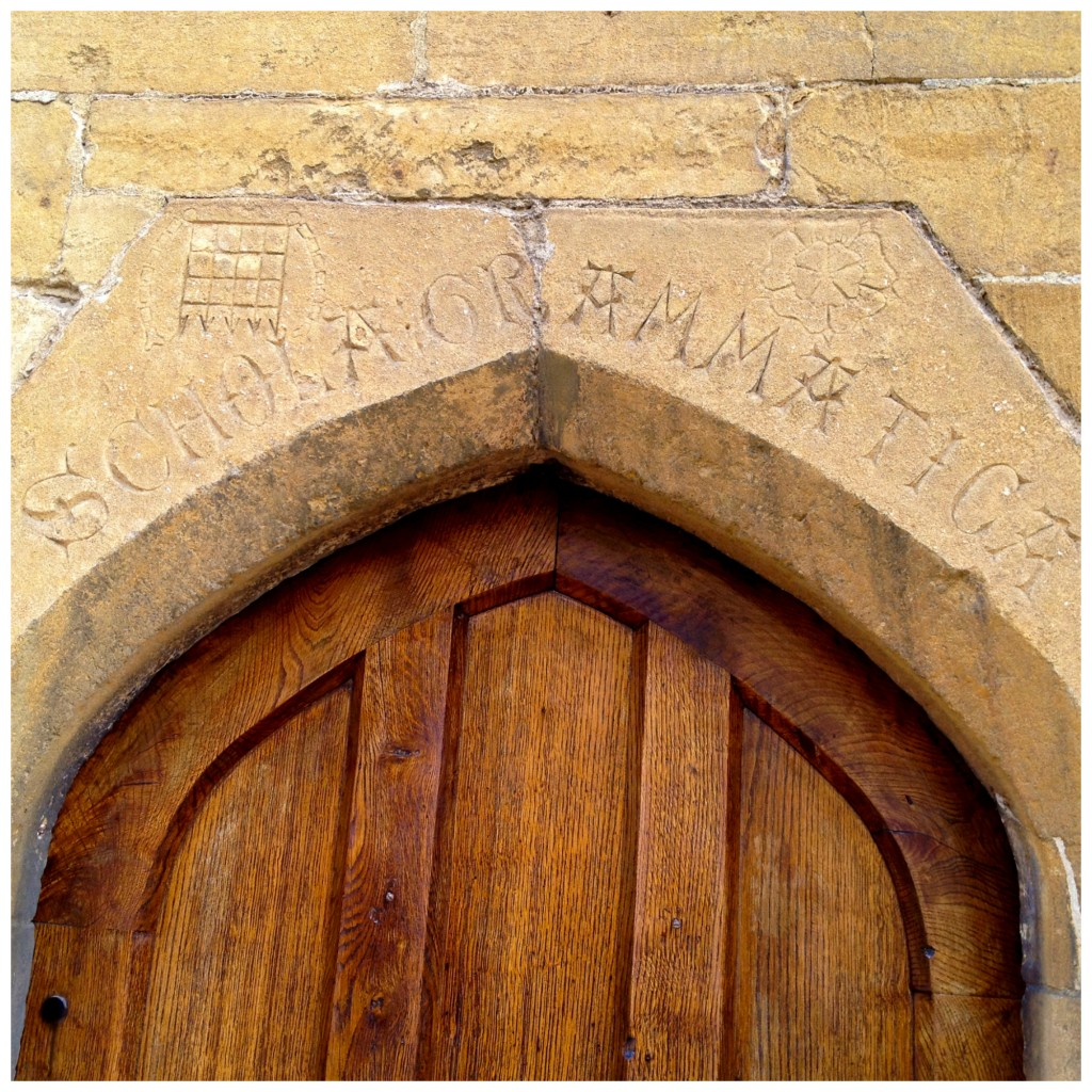 A very old school in the village of Chipping Campden.